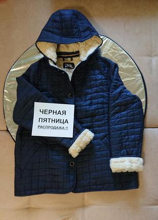 Куртка зима женская теплая  мех большой размер