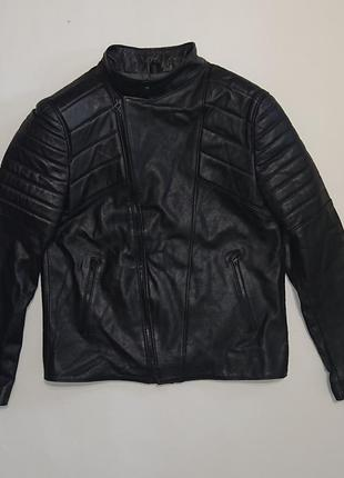 Куртка натуральная кожа мужская черная турция