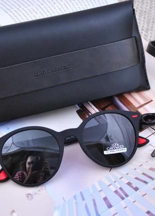 Стильные черные очки матовые унисекс polarized
