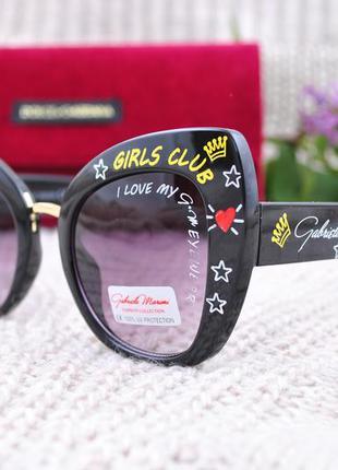 Яркие модные солнцезащитные очки gabriela marioni окуляри с на...