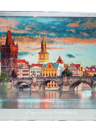 Пазлы Вечерний город, Прага, 1500 элементов.