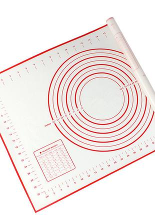 Профессиональный силиконовый коврик для раскатки теста 60*40 см