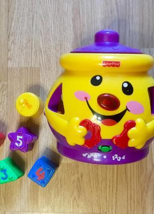 Волшебный горшочек, музыкальная игрушка, сортер fisher-price