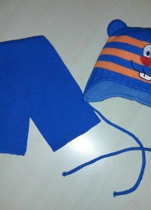 Шапка и шарф набор комплект