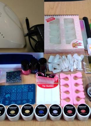 Профессиональный набор для покрытия, дизайна и наращивания ногтей