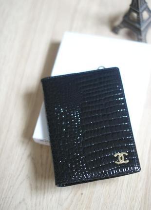 Обложка для паспорта chanel, натуральная кожа, новый в наличии