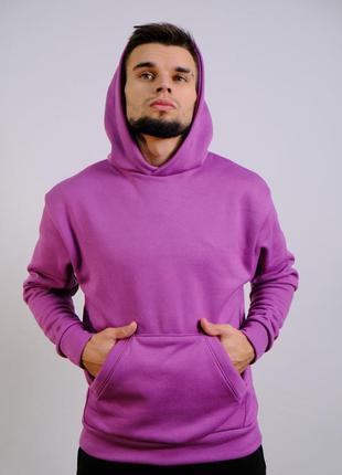 Утепленное худи цвет фиолетовый dnk mafia karmian turkey