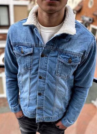 Джинсовый пиджак мужской с мехом / джинсовий піджак чоловічий ...