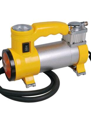 Миникомпрессор автомобильный Miol - с фонариком 12 В, 10 bar, 35