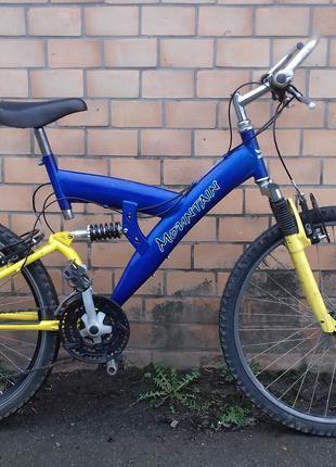 Продам велосипед б/у з Німеччини двухпідвіс на 21 передачу