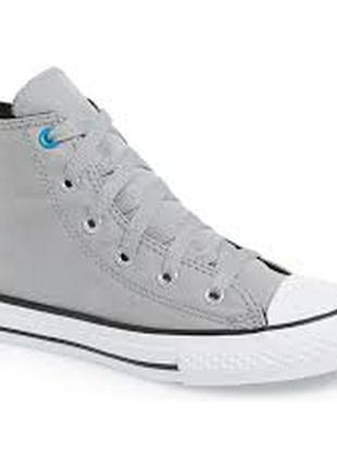 Converse all star высокие кеды кроссовки серые
