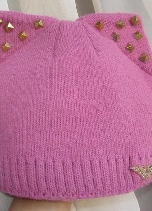 Зимняя шапочка шапка 2-3-4 года с ушками