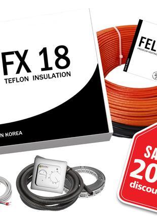 Электрический теплый пол FX18 Корея Тефлоновый кабель под плитку