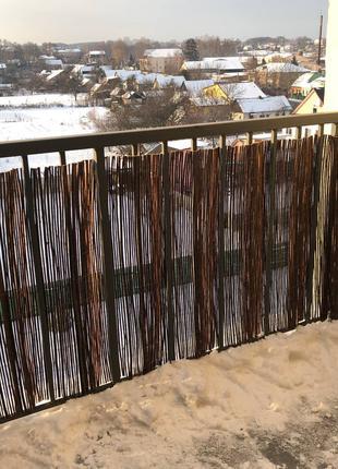 Еко паркан на балкон з лози