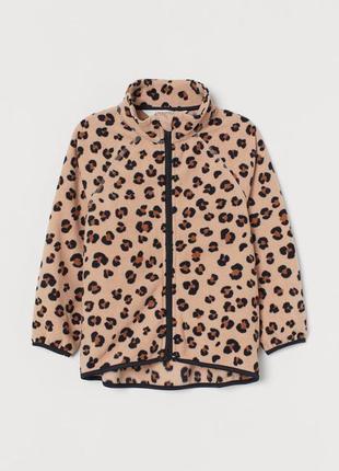 Флиска на девочку h&m леопард