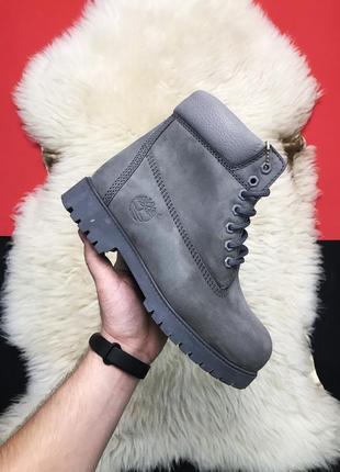 Ботинки  зимние timberland , натуральная кожа, натуральный мех