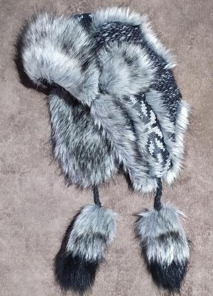 Шапка ушанка starling шерстяная с искусственным мехом