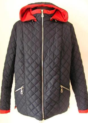 Куртка демисезонная короткая больших размеров код 4648м