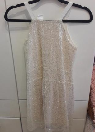Детское блестящее платье zara