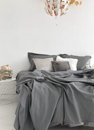 Постільна білизна однотонна колір mr. gray індивідуальний пошив