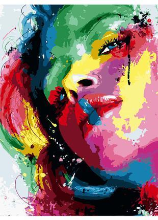 Картина по номерам 40*50см девушка радуга va-0687