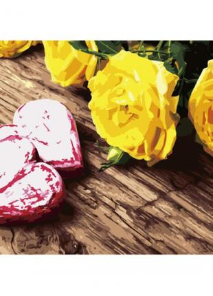 Картина по номерам 40*50см желтые розы va-2672