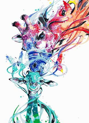 Картина по номерам 40*50см жирафы va-0701