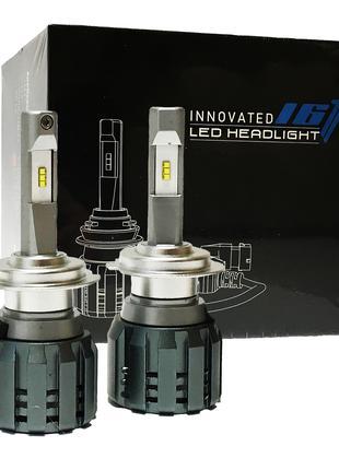 Светодиодные Led Лампы H7 с обманкой 52Вт 5500Lm 6000K. Авто лед