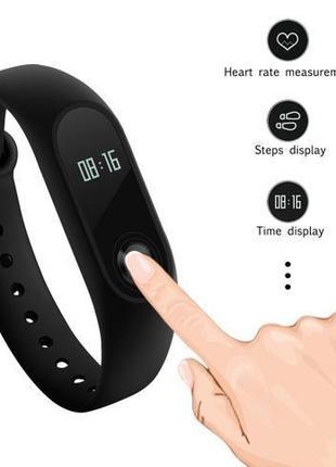 Фитнес браслет Часы Xiaomi Mi Band 2 Black (Черный)