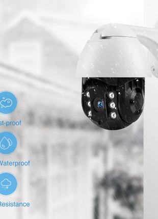 Камера видеонаблюдения WiFi уличная поворотная с датчиком движени