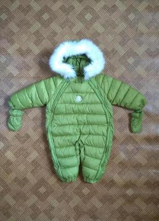 Зимний теплющий комбинезон кокон пуховик moncler монклер - воз...