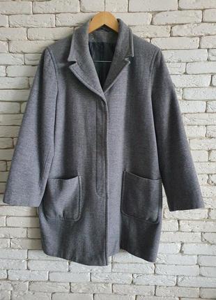 Шерстяное пальто демисезонное  next