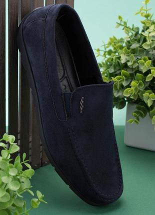 Мужские темно-синие туфли