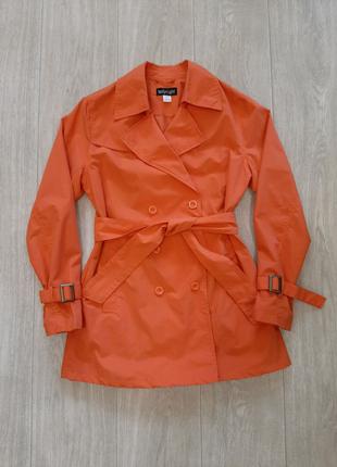Новый женский оранжевый тренч плащ жакет