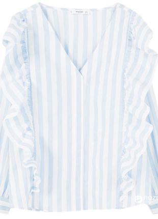 Mango рубашка- блуза в голубую полоску