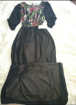 Шикарное платье в пол размер 48 burvin