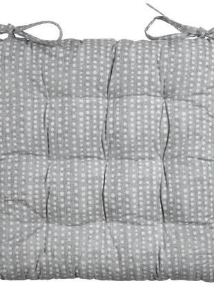 Подушка на кухонное стуло на завязках 40x40x4см