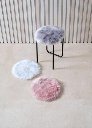 Подушка на стуло , искусственный мех , меховушка
