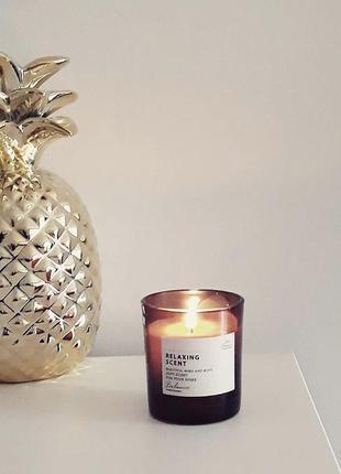 Ароматическая свеча с декоративной крышкой