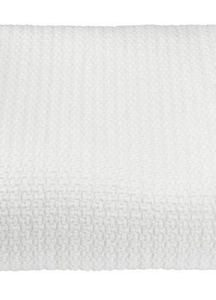 Красивое белое полуторное покрывало 160x220см