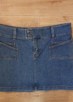 Снизила цену джинсовая юбка м- размера . недорого
