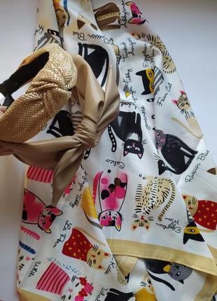 Набор платок коты и обруч