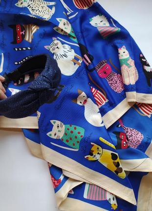 Набор платок коты и обруч большой выбор цветов