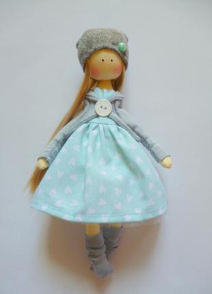 Кукла ручной работы, кукла балерина, текстильная кукла, кукла ...
