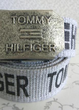 Ремни tommy hilfiger для джинс текстильные (стропа) легко регу...