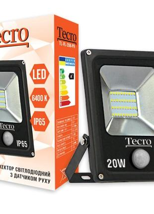Светодиодный прожектор Tecro TL-FL-20B-PR 20W 6400K с датчиком дв