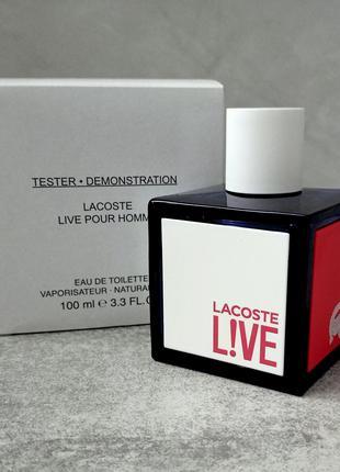 Lacoste Live 100 ml тестер с крышечкой для мужчин (оригинал)