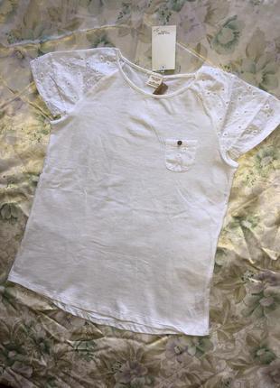 Белая футболка zara. оригинал.