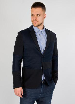 Стильный мужской пиджак slim fit длинный рукав jack & jones