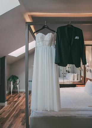 Свадебное платье лето открытое открытые плечи летнее макси